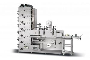 ZBS-320G LABEL FLEXOPRINTING MACHINE WITH THREE DIE CUTTING STATION